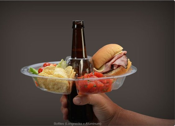 The GoPlate, A Snack Plate That Wraps Around Your Beer
