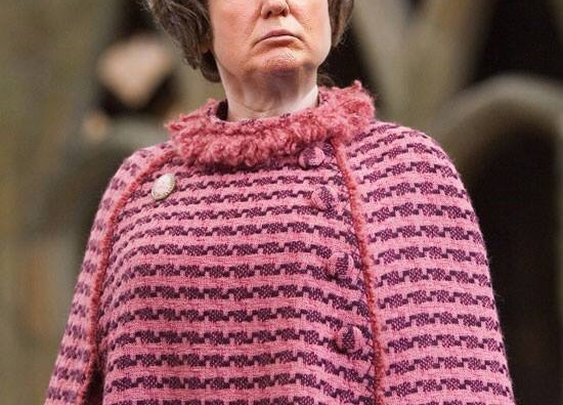 You need to see what Dolores Umbridge with Donald Trump's face looks like