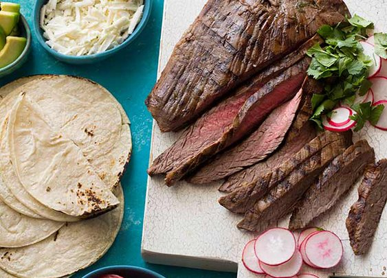 Grilled Tequila Garlic Lime Flank Steak Recipe : Guy Fieri : Food Network