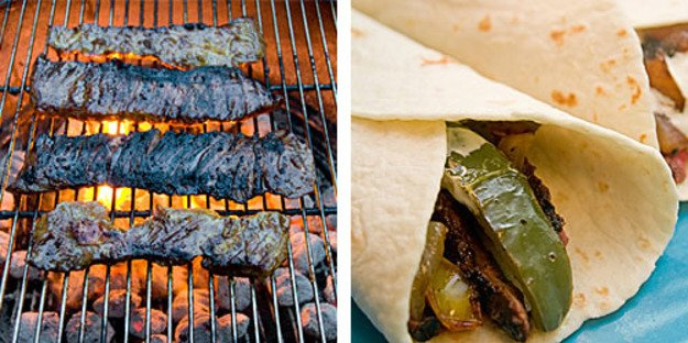 Grilled Skirt Steak Fajitas | Serious Eats : Recipes