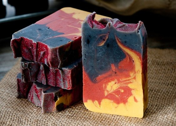 'Fire in the Hole' Campfire Soap - Caution! You'll grow a third testicle!