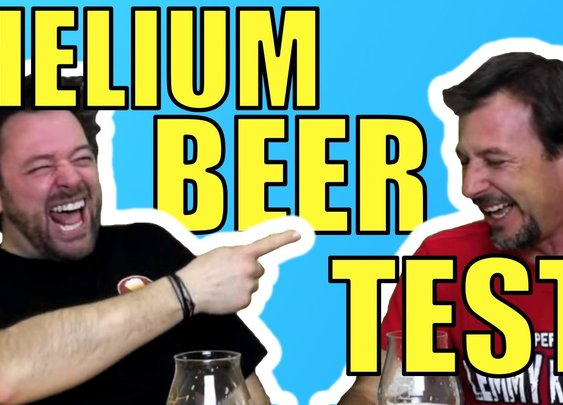 Helium Infused Beer