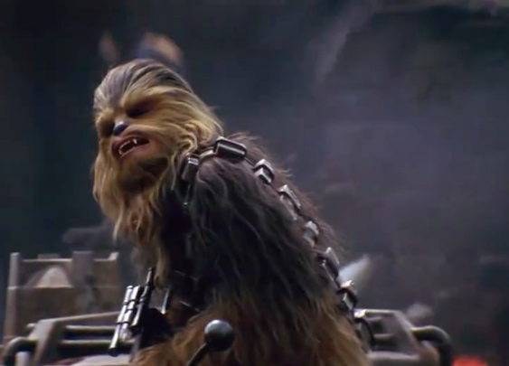 Chewbacca's double in 'The Force Awakens'