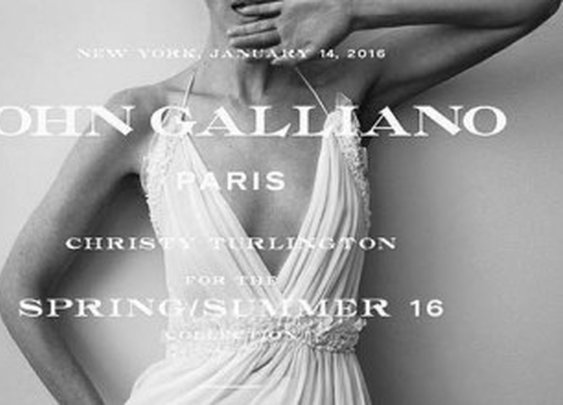Christy Turlington Wows in White for John Galliano First Ad Campaign
