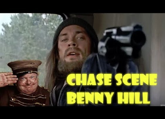 The Walking Dead With Benny Hill Music