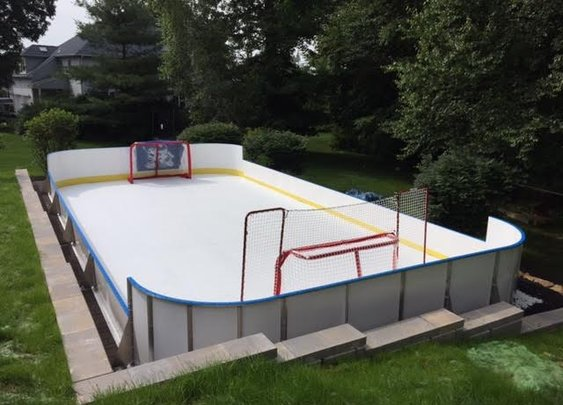 Learn More About Hockey Rink Boards | D1 Backyard Rinks