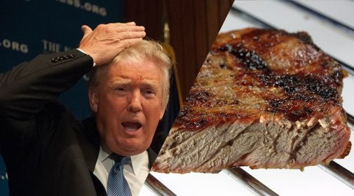 Trump Orders Steak Well Done
