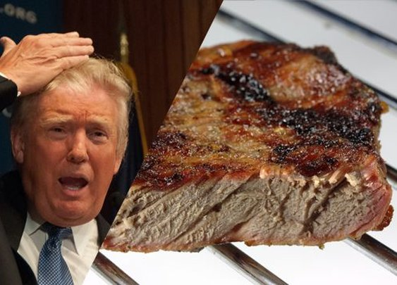 Trump Orders Steak Well Done