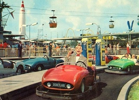 Fan Photoshops Pee-Wee Herman Into Vintage Postcards