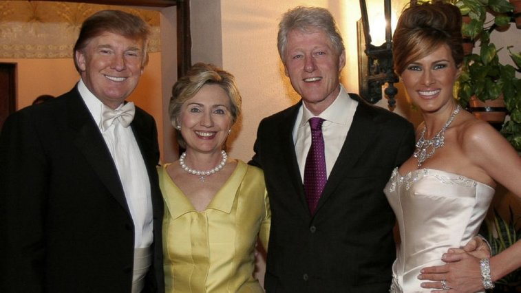 Donald Trump Says His Money Drew Hillary Clinton to His Wedding