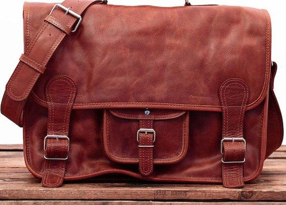 Leather Briefcase - MALETINES DE PIEL LeCARTABLE XL | RUAVINTAGE.COM