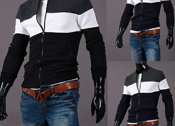 Men's Casual Zipper Jacket
