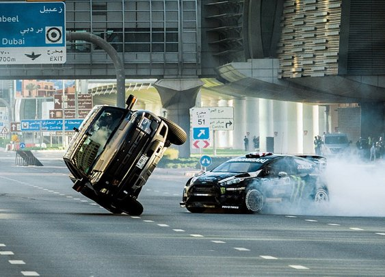 Gymkhana Eight, Rally Racer Ken Block Speeds and Drifts Through Dubai in His 650 Horsepower Ford Fiesta ST RX43