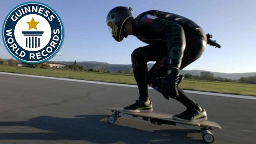 Fastest speed on an electric skateboard