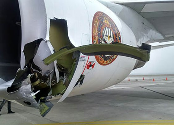 Ed Force One badly damaged in Chile