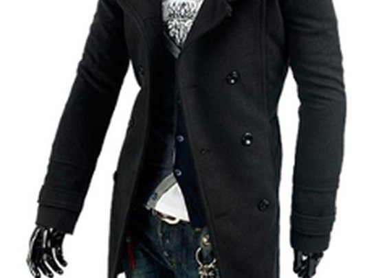 Men's Black Military Coat