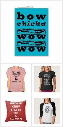 Bacon Lover's Gift Pack from Zazzle - Keep Calm and Eat Bacon Blog