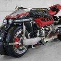 The Bad Ass Lazareth LM 847 Quad-Wheel Motorcycle