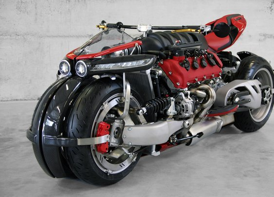 The Bad Ass Lazareth LM 847 Quad-Wheel Motorcycle