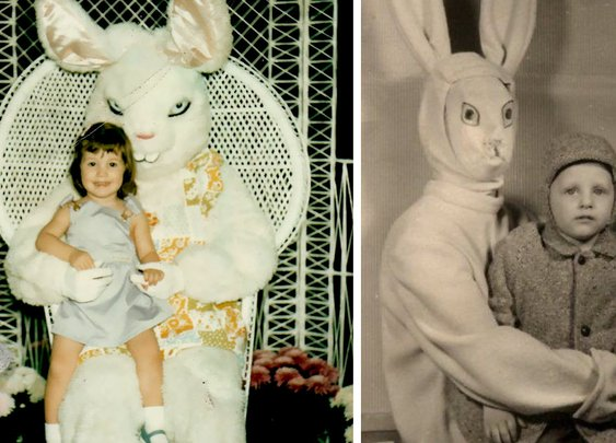 15+ Vintage Easter Bunny Pics That Will Give You Nightmares | Bored Panda