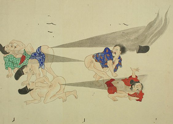 Epic battles of flatulence from 19th-century Japan