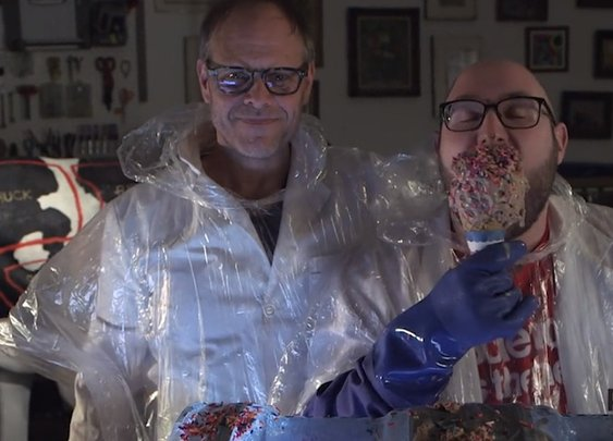 Watch Culinary Mad Scientist Alton Brown Create a Gallon of Ice Cream in 10 Seconds - GeekDad