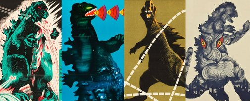 Vintage Godzilla posters from around the world are indescribably awesome!   Dangerous Minds