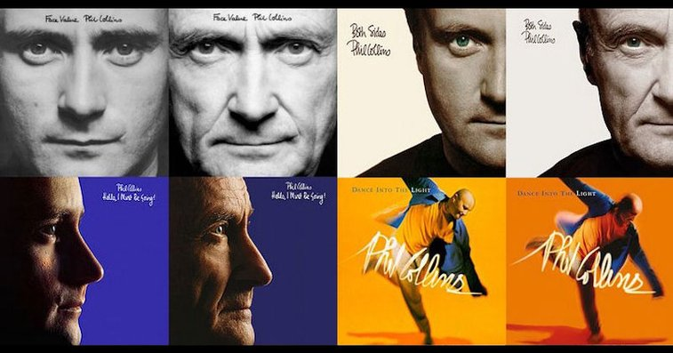 Phil Collins Recreates Original Album Covers for 2016 Reissues «TwistedSifter