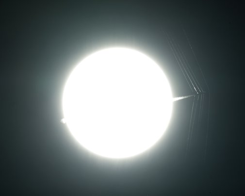 T-38C Passes in Front of the Sun at Supersonic Speed | NASA