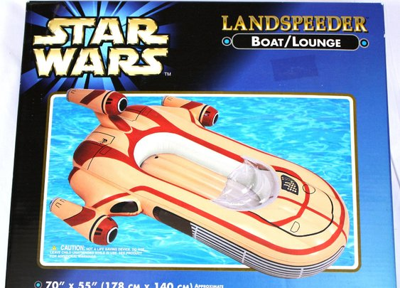 An Inflatable Star Wars Landspeeder Pool Lounger