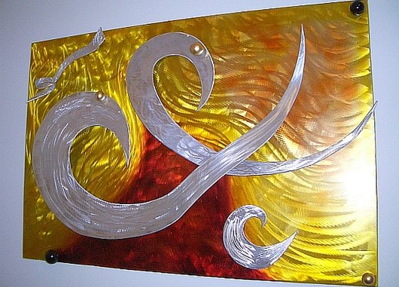 aluminum wall sculpture and aluminum art as well as brushed aluminum wall art