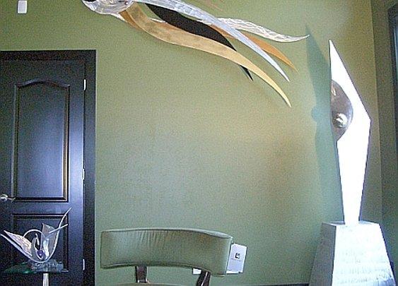 aluminum wall hanging sculpture,