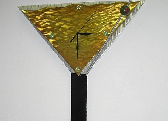 martini clock art sculpture clock. Martinin clock by artist Tony Viscardi