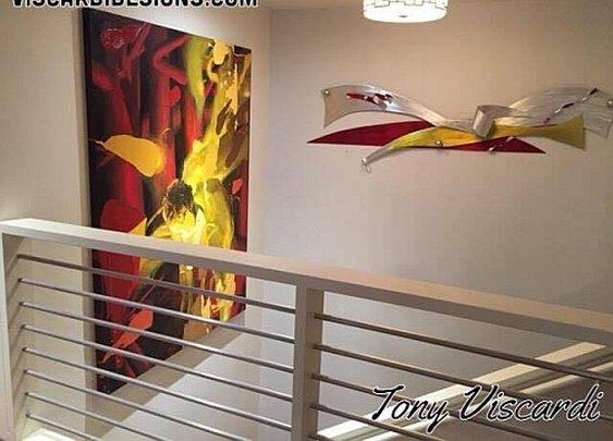 contemporary wall art,contemporary wall sculpture by Tony Viscardi