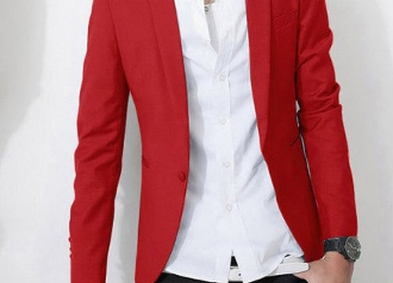 Men's Tailored One Button Blazer