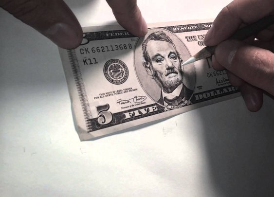 5 Dollar Bill Murray by GINOZKO - YouTube