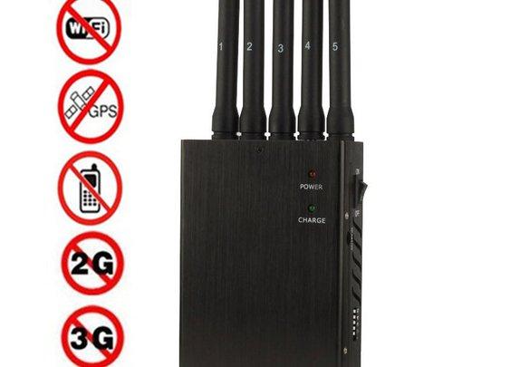 Tragbare 5-Band-Hochleistungs Handy-Störsender