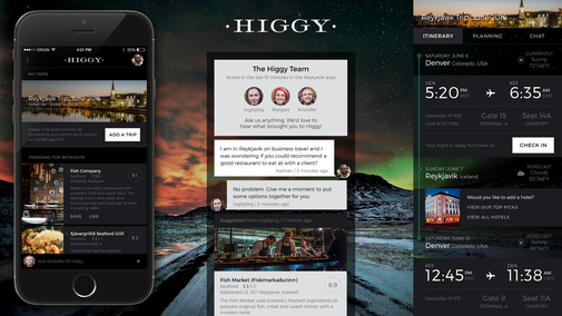 Higgy: Your Real Person, Travel Advisor and Agent App
