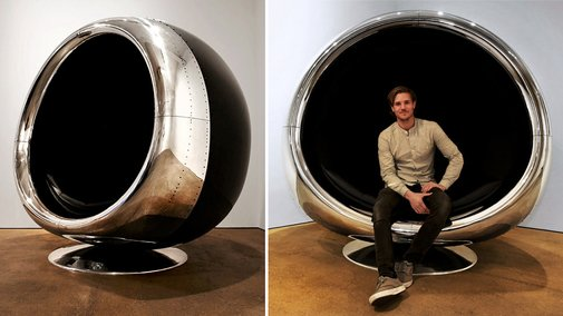 Chair made from 737 Engine