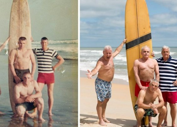 For four Marines, reunion photo after 50 years means getting it right