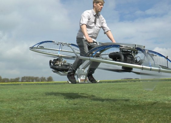 This Guy Builds Homemade Hoverbike, Shoots Fireworks From It