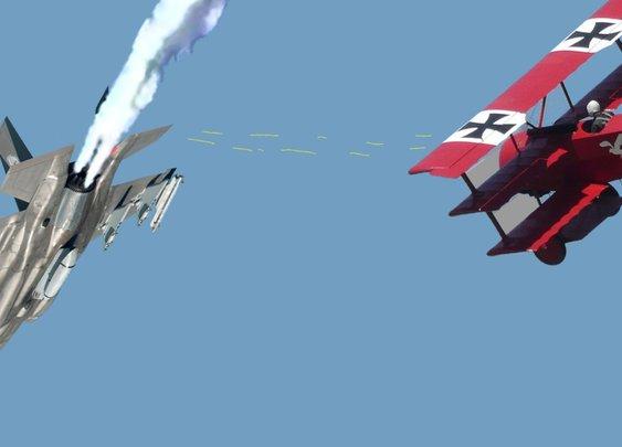 Lockheed Upbeat Despite F-35 Losing Dogfight To Red Baron – Duffel Blog