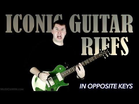 Legendary Guitar Riffs in Opposite Keys