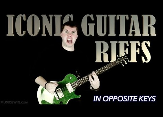 Legendary Guitar Riffs in Opposite Keys