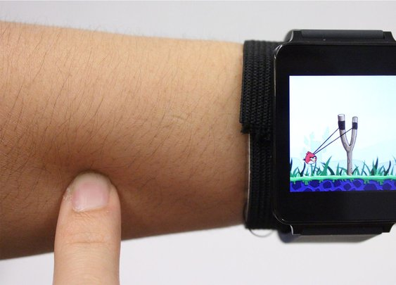 New tech turns your skin into a touchscreen for your smartwatch