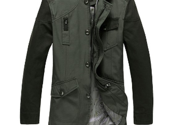 Mens Casual Stand Collar Jacket