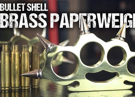 How To Make Brass Knuckles From Bullet Shells - YouTube