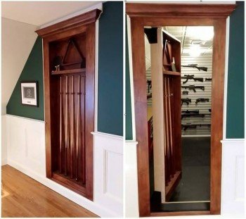 Secret Billiard Door to Gun Room | StashVault