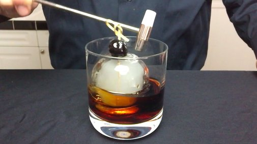 How to Make an Impressive Smoke Filled Ice Ball To Crack Open Over a Stirred Cocktail With a Hammer