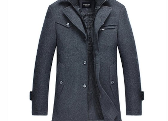 Men's Dual Collar Button Down Coat